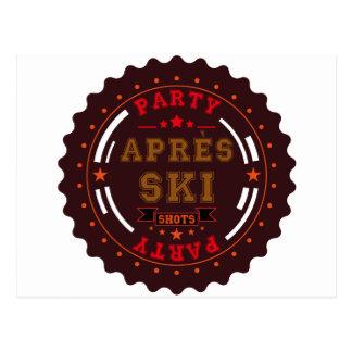 Carte Postale Logo de partie de ski d'Apres