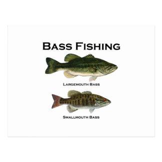 Carte Postale Logo de pêche au bar (de large ouverture -