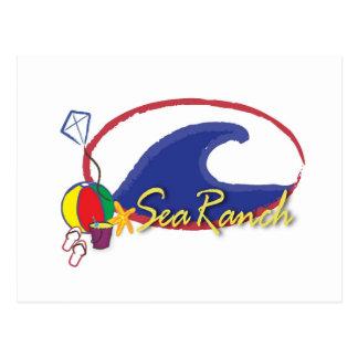 Carte Postale Logo de ranch de mer