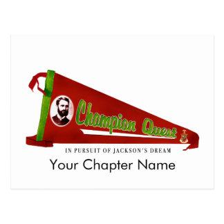 Carte Postale Logo de recherche de sigma de Kappa