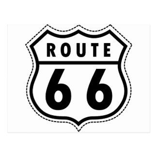 Carte Postale Logo de route de l'itinéraire 66