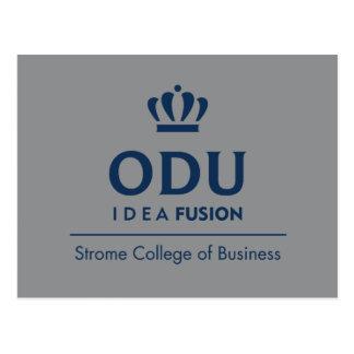 Carte Postale Logo empilé par ODU - bleu