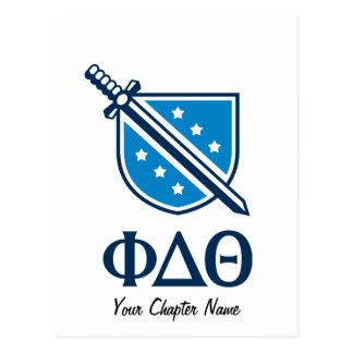 Carte Postale Logo et lettres empilés - Blue1