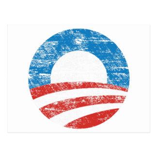 Carte Postale Logo fané d'Obama