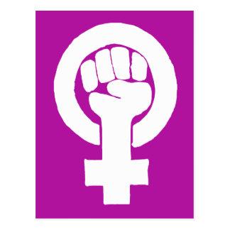 Carte Postale Logo, féministe/feminista, égalité/igualidad :