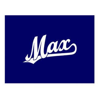 Carte Postale Logo maximum de manuscrit dans le blanc