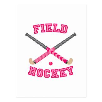 Carte Postale Logo rose d'hockey de champ