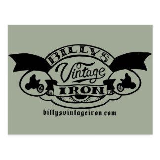 Carte Postale Logo vintage du fer de Billy