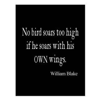 Carte Postale L'oiseau vintage de William Blake montent pour