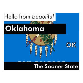 Carte Postale L'Oklahoma plus tôt l'état