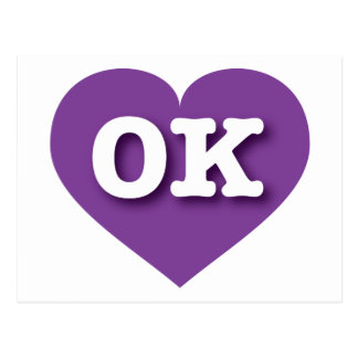 Carte Postale L'Oklahoma Purple Heart - grand amour