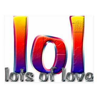 Carte Postale LOL (un bon nombre d'amour)