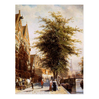 Carte Postale Lombard Voorburgwal Amsterdam par Cornelis