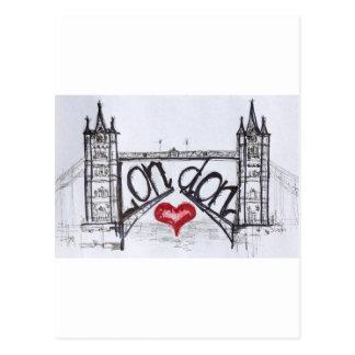 Carte Postale Londres avec amour