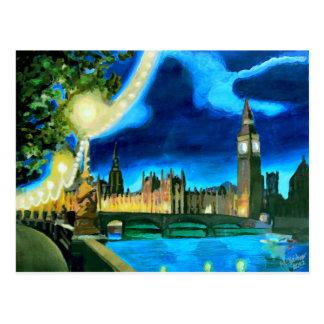 Carte Postale Londres Big Ben et le Parlement avec la Tamise