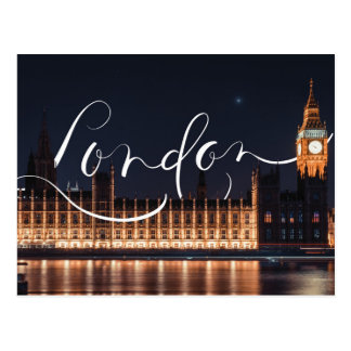 Carte Postale Londres/carte postale calligraphie de Big Ben