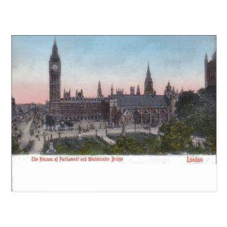 Carte Postale Londres vintage, palais de Westminster pre-1904