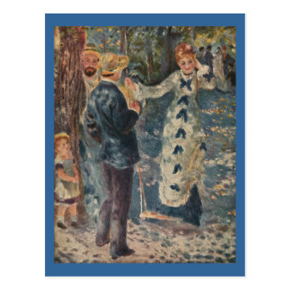 Carte Postale L'oscillation de Pierre-Auguste Renoir (1876)