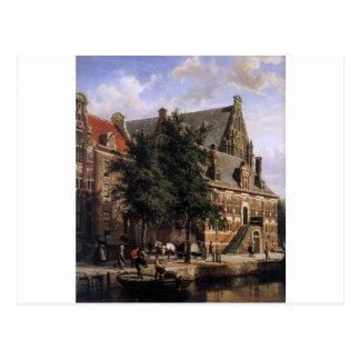 Carte Postale L'Oude Waag chez le Westerkerk par le ressort de