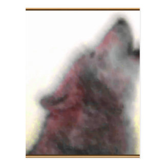 Carte Postale Loup d'hurlement