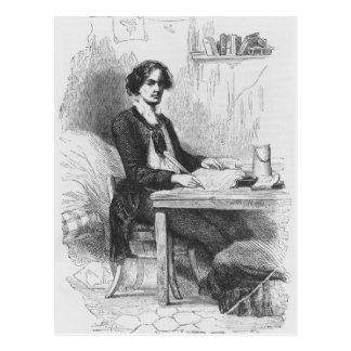Carte Postale Lucien de Rubempre écrivant une lettre