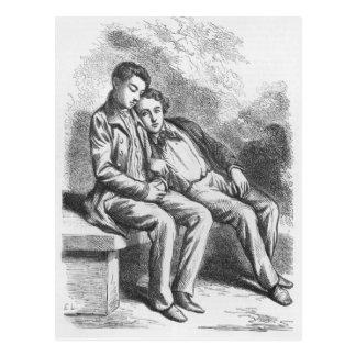 Carte Postale Lucien de Rubempre et David Sechard