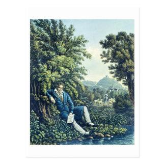 Carte Postale Ludwig van Beethoven par une rivière (engravin