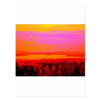Carte Postale Lueur de coucher du soleil