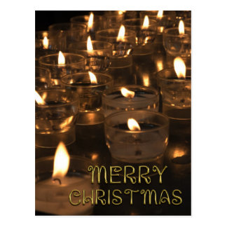 Carte Postale Lueur d'une bougie de bougies de lumières de