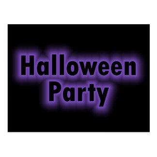Carte Postale Lueur pourpre de partie de Halloween