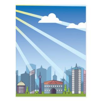 Carte Postale Lumière du jour de ville