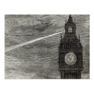 Carte Postale Lumière sur la tour d'horloge, Chambres du