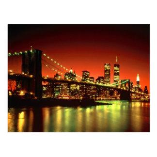 Carte Postale Lumières de New York City