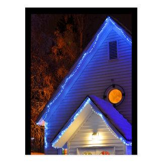 Carte Postale Lumières d'église d'hiver en Alaska