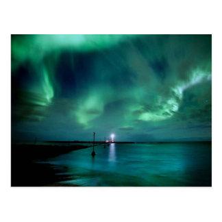 Carte Postale Lumières du nord Islande