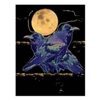 Carte Postale Lune éffrayante de Ravens par Sharles