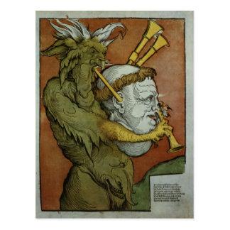Carte Postale Luther comme cornemuses du diable, c.1535
