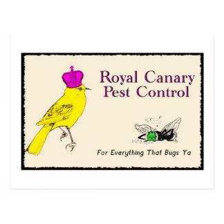 Carte Postale Lutte contre les parasites jaune canari royale