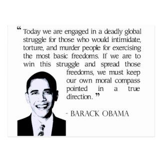 Carte Postale Lutte globale, Obama Barack