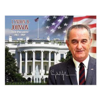 Carte Postale Lyndon B. Johnson - trente-sixième président des