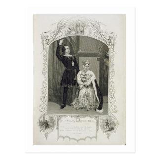 Carte Postale M. Phelps comme Hamlet et Mlle Glyn comme Reine