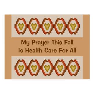 Carte Postale Ma prière cet automne est des soins de santé pour