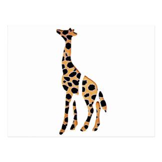 Carte Postale Mâche sauvage de girafe