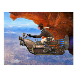 Carte Postale Machine de vol de Steampunk