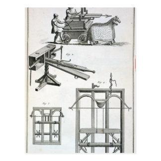 Carte Postale Machines ballistiques romaines, du 'Encyclopedie