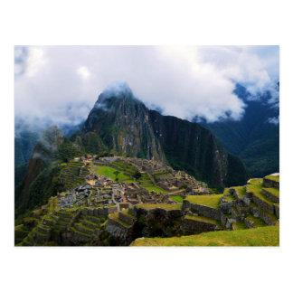 Carte Postale Machu Picchu, Pérou, donnent sur