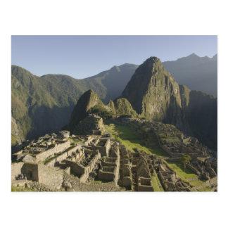 Carte Postale Machu Picchu, ruines de ville d'Inca, Pérou