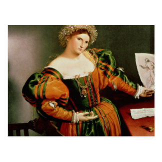 Carte Postale Madame avec un dessin de Lucretia, c.1530-33