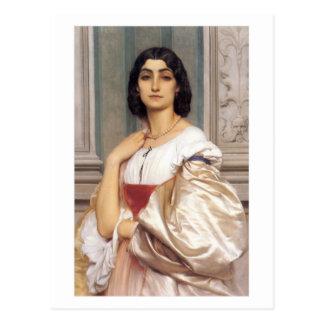 Carte Postale Madame romaine - seigneur Frederick Leighton