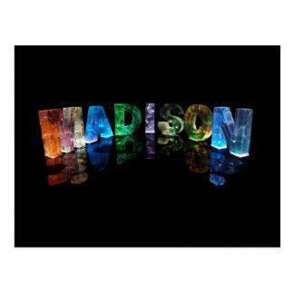 Carte Postale Madison nommé dans 3D s'allume (la photographie)